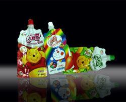 Stand-up en plastique de yogourt sac d'emballage, Stand-up de lait en forme de pochette de la tuyère