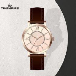 신식 디자인 다이얼 시계 주문 손목 시계 가죽 악대 시계 (72117)