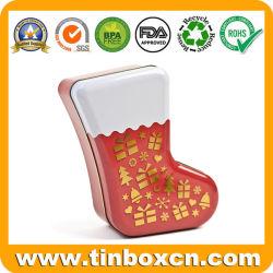 Рождество хранимых на форму металлического олова случае подарочные коробки для хранения Тин