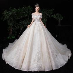 2020 Luxury втулки с двойной слой свадебные платья