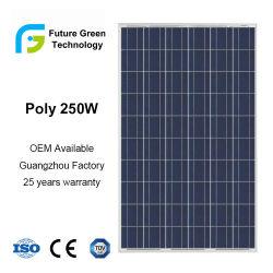 Potencia 250W de alta eficiencia de las Energías Renovables módulo solar