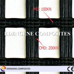 Biaxes 200KN Maille en fibre de verre recouvert de bitume/net/grille géogrille pour l'asphalte renfort de couches