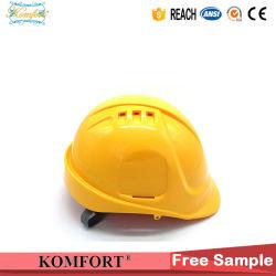 Geel Ce van de Veiligheid, ANSI de Helm van de Bouw van de Mijnbouw van het Werken