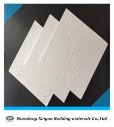 Cheap belles dalles de plafond, 595x7/8x595mm, 603x603x7/8mm de PVC de gypse, du Conseil de plafond Gysum faux plafond