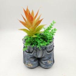 Pantalon Polyresin Jean Pot de fleur décorations