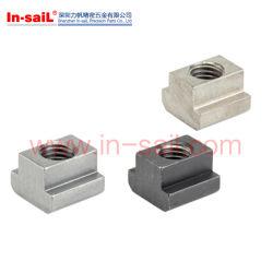 La norma DIN ISO299508 Acero al carbono de óxido negro las tuercas con ranura en T