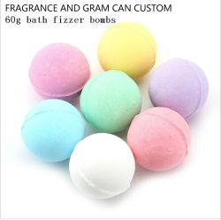 Personalizzato delle bombe del bagno del sale di fragranza/della bolla del bagno Fizzers del bagno per la STAZIONE TERMALE