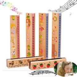 Houten Harmonica 24 Hole Kinderen Muzikale Instrumenten Gift Educational Toys