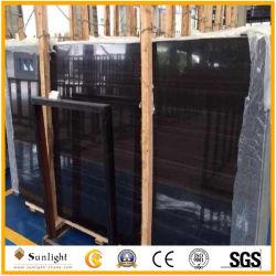 Polies à bon marché de la Chine veine en bois noir en marbre, de marbre en bois noir