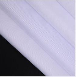 La tapa de monos de poliéster Gabardine Mantel delantal Twill vestido blanco tejido médico