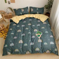 Het Blad van het Beddegoed van het bed plaatst de Tweezijdige Afgedrukte Reeks van het Beddegoed