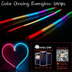 Farbe APP-24inch esteuerte RGB, die intelligente LED-Streifen für Boots-Auto RV mit APP-Controller ändert