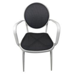 Rattan moderno popolare di uso della famiglia che pranza la mobilia esterna dei bistrot di alluminio
