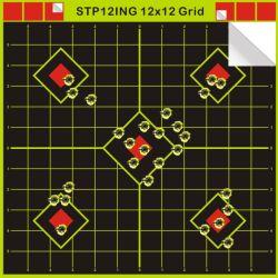 12X12′ ′ Anhaftendes reagierendes Leuchtstoff gelbes Schießen-Tabletten-Ziel