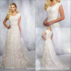 레이스 결혼 예복 Retro 주문 에이라인 신부 드레스 HP1663