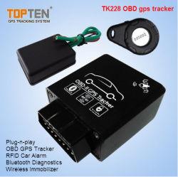 Coche OBD Tracker con RFID Gestión de Flotas, leer la norma SAE J1939 Canbus, protocolo de voz Monitor Tk228-Wy