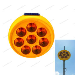 8PCS LEDの交通安全のための太陽点滅のヒマワリLEDの警報灯