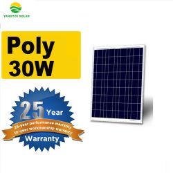 뜨거운 판매 저가 태양 전지판 폴리결정질 모듈 18V 30W 35W 40W 45W 50W 60W 65W