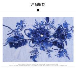Fabrikanten Full Polyester Mesh Cloth Stickers Bloempailletten Geborduurde doek Stickers Fabric Fashion Stage Dameskleding Accessoires