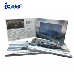 Folheto de vídeo de tela HD artesanais para cartões de saudação grossista/Promoção de casamento