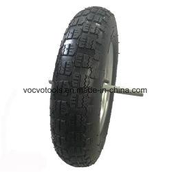 Neumático de caucho neumático de carga pesada de construcción de las ruedas de carretilla de mano