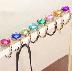Table ronde de diamants de couleur le pliage Sac titulaire pendre le crochet de suspension