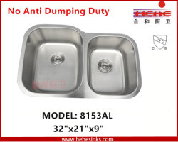 Undermount double évier de cuisine en acier inoxydable Lavez avec CUPC