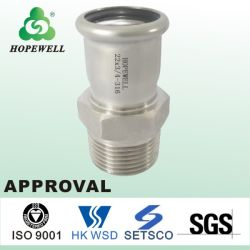 La plomberie sanitaire en acier inoxydable BSP mâle BSPT à filetage femelle à tubes de droite les coudes égale les raccords adaptateurs des tees de tuyaux
