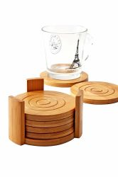 カスタムメイドの竹製木製コースター