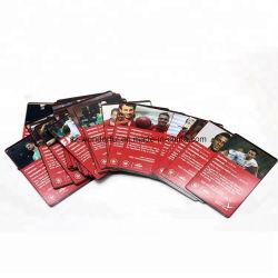 Feuille personnalisée Gold / slivoïde Cartes de Jeu de cartes de poker de gros pour Casino