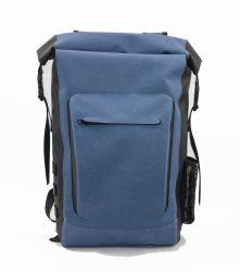 男女兼用の人間の人の徳利立てが付いている防水乾燥した袋のバックパックをハイキングする新しい方法TPU青い屋外スポーツ旅行ハンチング