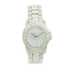 Reloj de joyería de lujo de aleación de color blanco con piedra Japón relojes de cuarzo (JY-2767)