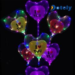 "18"" LED Hclear Globo Bobo con Cup&Stick globo con luces LED String"