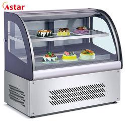 Réfrigérateur Commerciale Table vitrine à gâteaux gâteau de pain d'affichage pour pizza