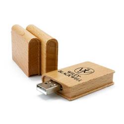 2019 de Nieuwe Model Houten Spatie van de Aandrijving van de Flits USB met het Afdrukken van het Kleurrijke BulkPakket van het Embleem of van de Gravure 1GB 2GB 4GB 8GB 16GB 32GB