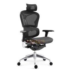 Moderner ergonomischer Bürostuhl mit Netzdesign und ausziehbarem Sitz