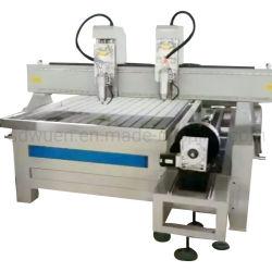 Haute fréquence ! Les processus de double Woodworking CNC avec machine à sculpter l'axe rotatif