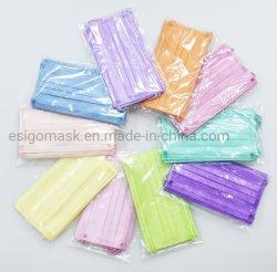 CE STOCK DE TYPE 3 plis contour coloré de l'IIF médicaux jetables non tissées masque chirurgical des fournitures médicales