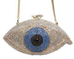 Sacchetto di sera di lusso su ordinazione del sacchetto di frizione delle signore del diamante del Rhinestone degli occhi diabolici