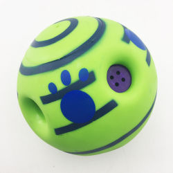 Dog Trainingのための14cm Ball Dog Sound Toy Pet Toys Jumping Interactive Chewing Toy Ball