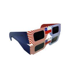 2021 barato personalizar el logotipo de Fuegos Artificiales polarizada Gafas 3D gafas de eclipse solar