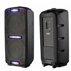 """듀얼 6"""" 홈시어터 전문가용 사운드 뮤직 장비 배터리 구동 프로모션 실내 가라오케 시끄러운 오디오 무선 Bluetooth 기능이 있는 액티브 스피커"""
