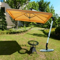 De zij Paraplu van het Strand van de Tuin van de Polyester van Pool Promotie Openlucht