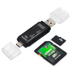 3-in-1 Micro USB-combo naar 2 sleuven TF SD Type C Goedkope Mini All in One kaartlezer Voor Android-telefoons en tablet-pc's