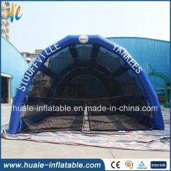 Rede de beisebol insuflável de alta qualidade, compartimento de rebatidas de beisebol insufláveis