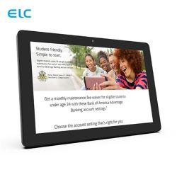 شاشة LCD مقاس 10.1 بوصة مزودة بشاشة Capacitive Touch للتركيب على الحائط من OEM الكمبيوتر اللوحي بنظام Android، رباعي المراكز، طراز PoE، طراز Rk3288