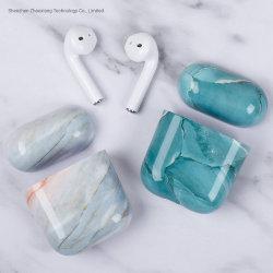 Modèle de marbre cas pour l'Original Airpods 1 2 Écouteurs Apple cas Airpods mignon de couverture de 2