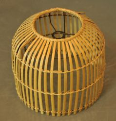 Châssis de bambou à la main le commerce de gros Pendentif avec les pièces non ELC