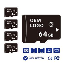 Usine de Shenzhen de gros de haute qualité 2GB 4GO 8 GO de 16Go et 32 Go 64 Go de 128 Go de carte mémoire SD Micro Carte Mémoire