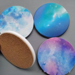 DIY Custom Wholesale water absorberende Tea Cup Coasters Set Sublimation Blanks Coaster Table Ceramic Coasters for Drink Coffee Promotion Gift